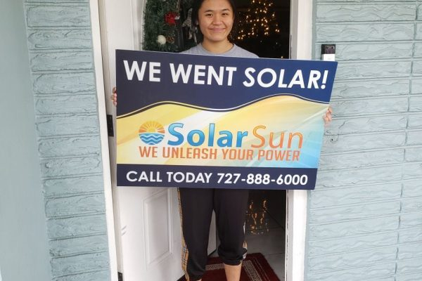 Another satisfied customer with Solar Sun. Solar Sun will give you the best home solar installation in Florida! Our company is veteran owned and led. Contact Solar Sun today to get a Free Home Solar Estimate.